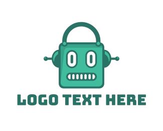 Shopping Bag - Robot Shop logo design