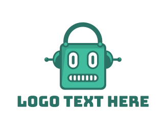 Artificial Intelligence - Green Robot Shop logo design