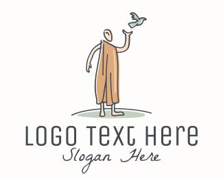 Healer - Man Bird logo design