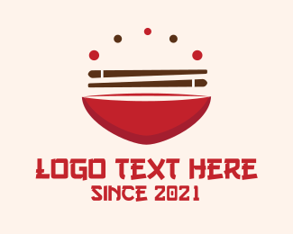 Chinese Food - Asian Food Bowl Restaurant logo design