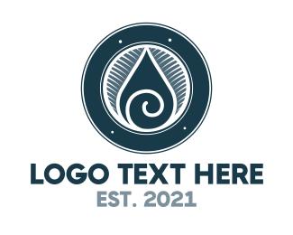 Breathwork - Spiral Drop logo design