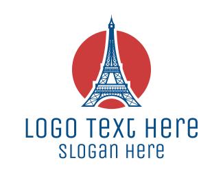 France - France Eiffel Tower logo design
