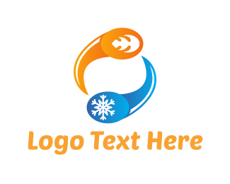 Cold - Hot & Cold logo design