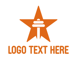 Personal Trainer - Orange Star Barbell logo design