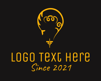 Light Bulb - Yellow Light Bulb logo design