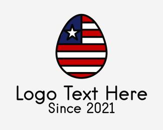 Latin America - Patriotic Flag Egg  logo design