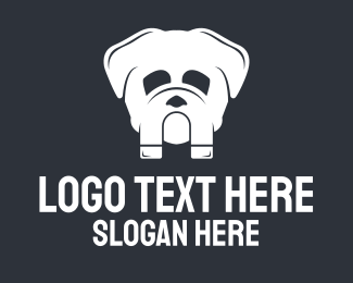 Doggie - Magnetic Bulldog logo design