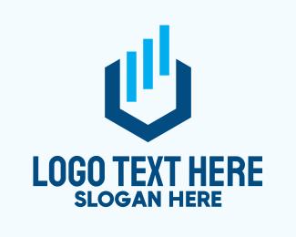 Finance - Blue Finance Letter U logo design
