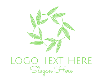 Natural - Green Natural Plant Leaves logo design