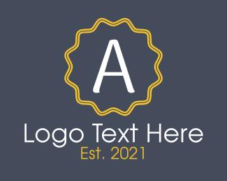Stamp - Elegant Letter A Emblem logo design