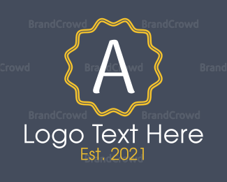 Casual - Letter A Emblem logo design