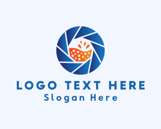 Orange Juice - Beverage Photography logo design