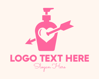 Shampoo - Pink Lovely Lotion logo design