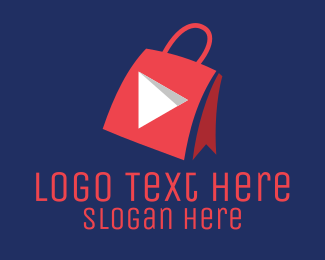 Youtube - Youtube Shopping Bag logo design