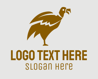 Black Bird - Brown Vulture logo design
