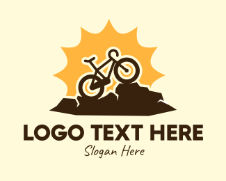 Mtb - Sunny Mountain Bike logo design