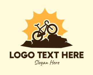 Bike - Sunny Mountain Bike logo design