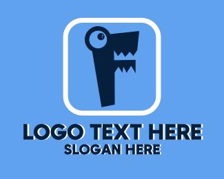 Elearning - Letter F Monster logo design