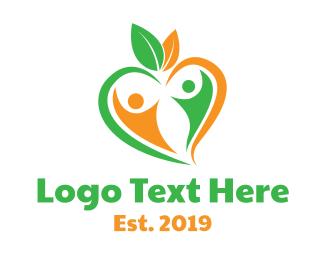 Dating App - Nature Couple  logo design