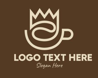 Hot Choco - Brown Coffee Crown logo design