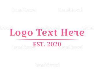 Beauty Store - Boutique Wordmark logo design