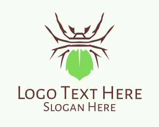 Spider - Eco Spider Leaf logo design