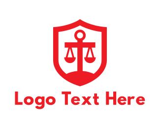 """Red Legal Shield"" by ArtAngelus"