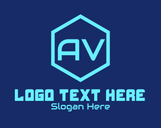 Audio - Audio Visual Font logo design