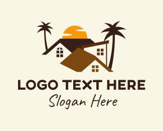 Village - Sunset Village Community  logo design