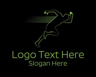 Athlete - Athletic Running Man logo design