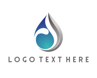Silver - Modern Water Drop logo design