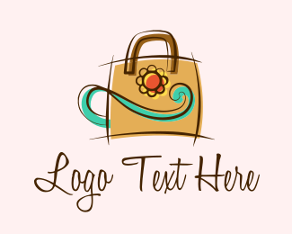 Handbag - Elegant Flower Handbag logo design