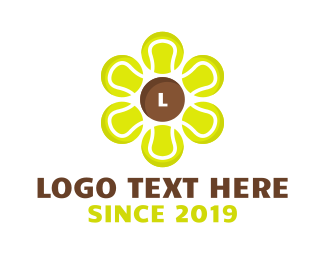 Itf - Tennis Ball Flower logo design