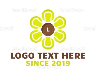 Tennis - Tennis Ball Flower logo design