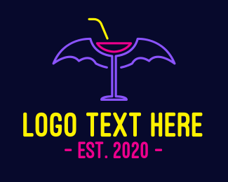 Restaurant - Bat Wings Music Bar logo design