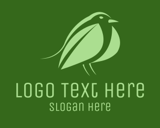 Pidgeon - Leaf Bird logo design