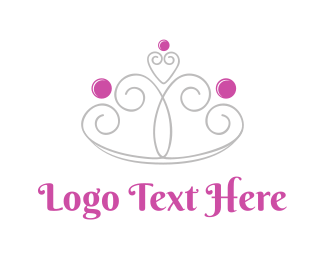 Cute Girly Crown  Logo