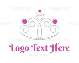 Tiara - Cute Girly Crown  logo design