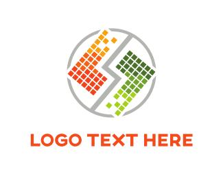 Duo - Tetris Squares Duo logo design