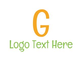 Kindergarten - Comic Letter G logo design