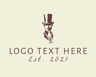Haircutter - Gentleman Barbershop  logo design