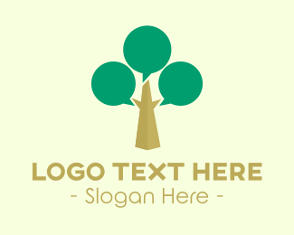 Conversation - Talk Tree logo design