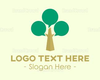 Language - Talk Tree logo design