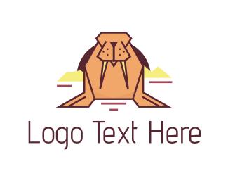 Alaska - Pink Walrus logo design