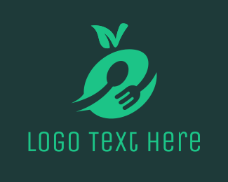 Green Apple - Green Food logo design