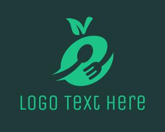 Eating - Green Food logo design