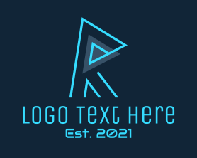 Gaming - Minimalist Tech Letter R logo design