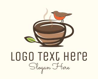 Hot Coffee - Nature Hot Coffee logo design