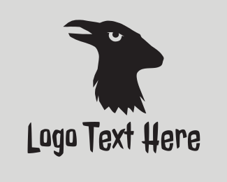 Animals - Black Raven Goat  logo design