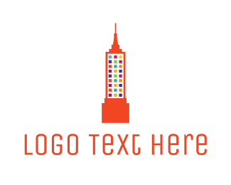 Silicon Alley - Colorful Empire State logo design
